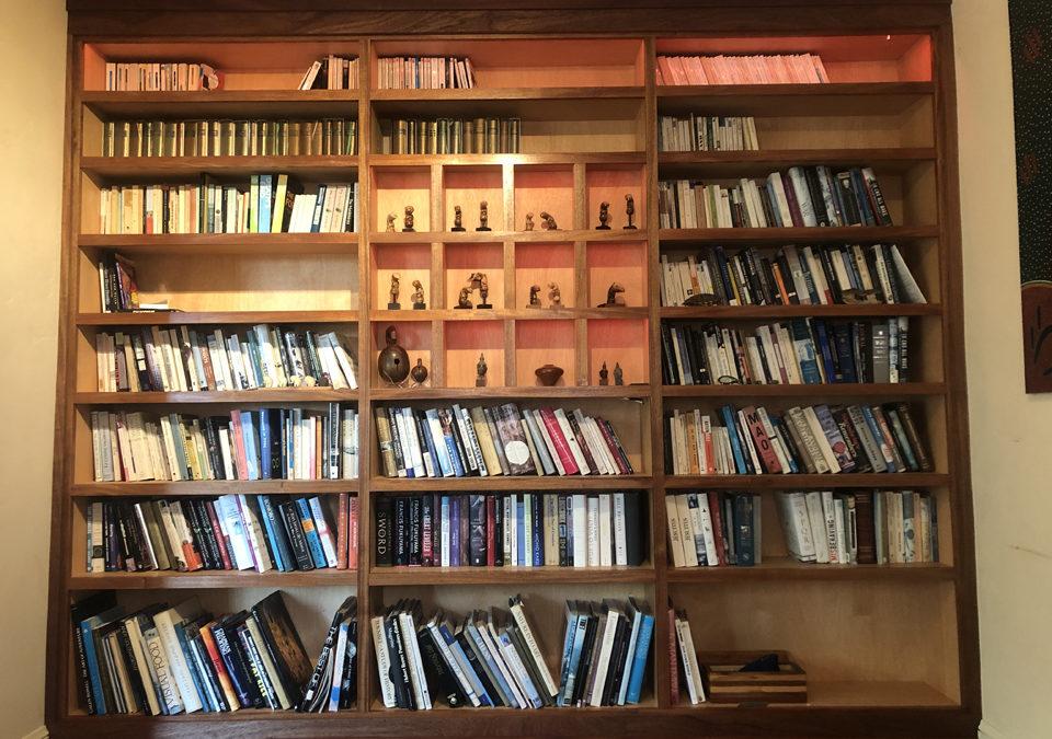 Custom Mahogany Bookcase with LED Lights – Kensington